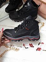 Детские подростковые зимние ботинки кожа
