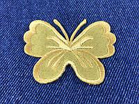 Нашивка бабочка big цвет золото