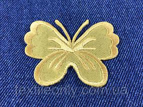 Нашивка метелик big колір золото