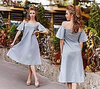 Платье №3120Г ( р-р.42.44.46 ) ткань-бенгалин. Цвете а ассортименте