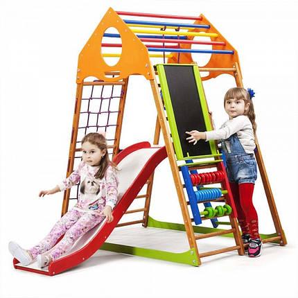 Дитячий спортивний комплекс для будинку KindWood Plus 3 (ТМ SportBaby), фото 2