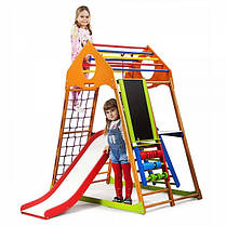 Дитячий спортивний комплекс для будинку KindWood Plus 3 (ТМ SportBaby), фото 3