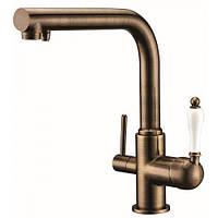 Смеситель с подключением фильтрованной воды 2 в 1 Kaiser Vincent 31144-1 Античная бронза