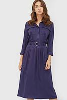 Жіноче синє класичне плаття-міді Liks