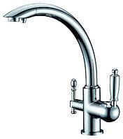Смеситель с подключением фильтрованной воды  2 в 1 Kaiser Vincent 31244 Хром