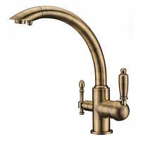 Смеситель с подключением фильтрованной воды  2 в 1 Kaiser Vincent 31244-3 Бронза, фото 1