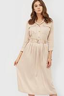 Жіноче бежеве класичне плаття-міді Liks