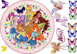 """Вафельная картинка для торта """"Винкс"""", (лист А4)"""