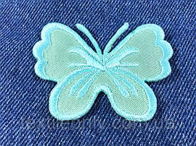 Нашивка бабочка big цвет тиффани