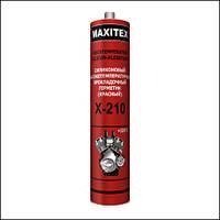 Герметик силиконовый, прокладочный, высокотемпературный, красный MAXITEX Х-210 (+320 °С) (310 мл.)