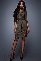 Женское платье Крейзи хаки Jadone Fashion 42-48 размеры