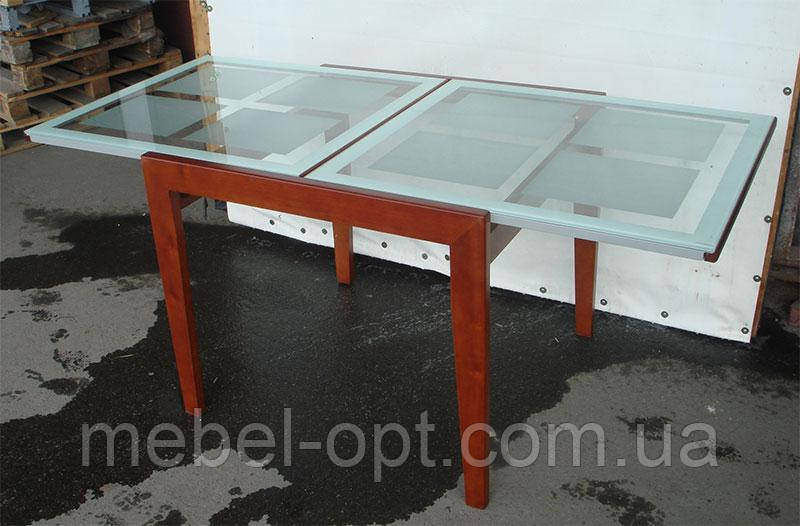 Стол кухонный стеклянный слайдер BT-31098 цвет вишня
