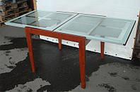 Стол кухонный стеклянный слайдер BT-31098 цвет вишня, фото 1