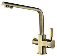 Смеситель с подключением фильтрованной воды 2 в 1 Kaiser Decor 40144-3 Бронза