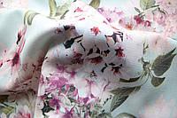 Ткань Лён вискозный, арт. 2657-А/5/2, Цветник (мята)