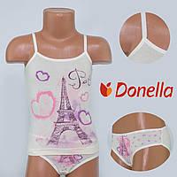 Детский комплект нижнего белья майка+трусики Donella, Турция. Donella 4371WPR-1 2/3. Размер на 2-3 годикa.