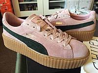 Женские кроссовки Puma Suede Creeper x Rihanna Coral/Cloud