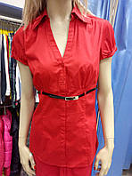 Блуза, рубашка красная Promod