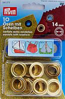 Люверсы 14 мм с установочным механизмом, золото, 10 наборов. PRYM
