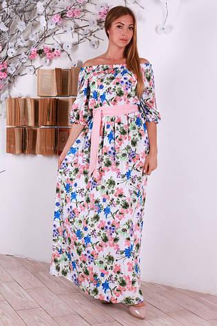 0a8a8c6809b Легкое женственное платье в пол с вырезом