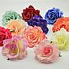 Головки розы из ткани