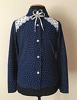 Школьная блузка-рубашка для девочки , фото 1