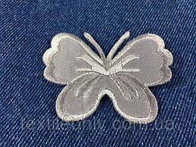 Нашивка метелик big колір сірий