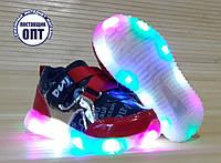 Кроссовки на мальчика со светящейся подошвой 22, 24 размеры