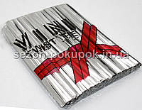 (≈600шт) Проволочные завязки 10см (цена за упаковку), цвет - серебро