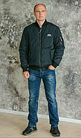 Куртка Bomber Jackets темно-синего цвета Alpha Industries