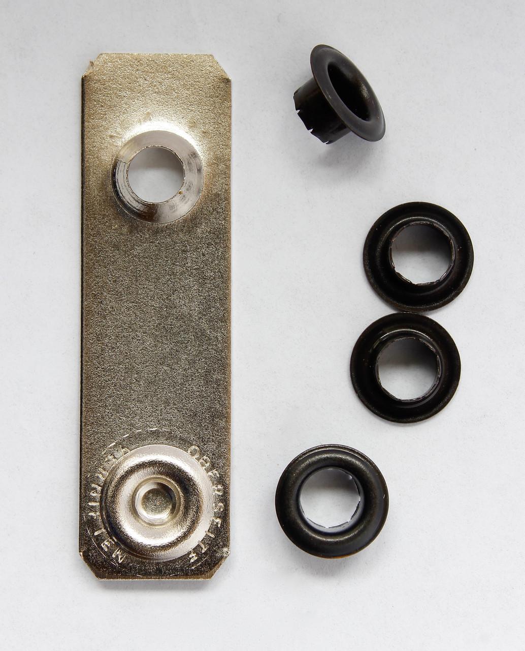 Люверси односторонні 5 мм з механізмом для установки, чорні, 40 шт. TREND, Швеція
