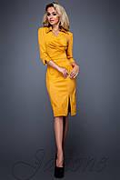 Женское горчичное платье Крейзи Jadone Fashion 42-48 размеры