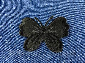 Нашивка бабочка big цвет черный
