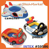Детский надувной круг Intex 59586 77х58см транспорт
