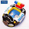 Детский надувной круг с отверстиями для ножек Intex 59586 77х58см транспорт, фото 5