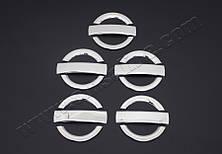 Хром накладки на дверные ручки Fiat Doblo I (с 2000--) (нерж.) 5-дверн.