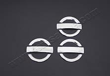 Хром накладки на дверные ручки Fiat Doblo I (с 2000--) (нерж.) 3-дверн.