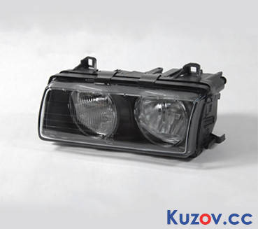 Фара BMW 3 E36 94-99 правая (Depo) электрич. H7+H7 2007102E, фото 2