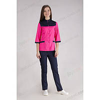 Медицинский костюм Амстердам розовый/синий №1025