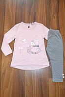 Трикотажный костюм-двойка c лосинами  для девочек Grace оптом,Размеры 86-116 см