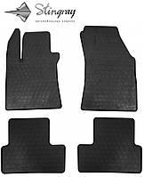 Не скользящие коврики Renault Megane IV 2015- Комплект из 4-х ковриков Черный в салон. Доставка по всей Украине. Оплата при получении