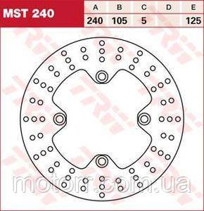 Тормозной диск TRW-Lucas MST240