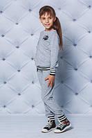 Костюм спортивный для девочки светло-серый