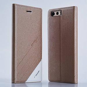 Чехол книжка для Huawei Honor 9 боковой, TSCASE, золотистый