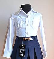 Детская блузка для девочки, белого цвета