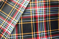 Ткань Подкладка принт, Шотландка-1, арт. 61117238