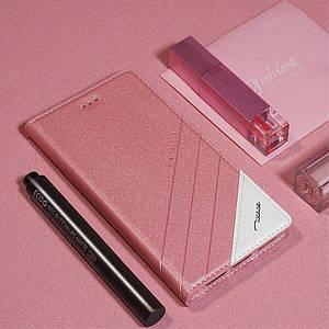 Чехол книжка для Huawei Honor 9 боковой, TSCASE, розовый