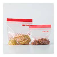 """ИКЕА """"ИСТАД"""" Пакет для заморозки продуктов, красный/60 шт."""