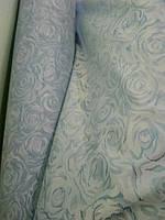 Жаккард матрасный голубая роза