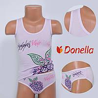 Детский комплект нижнего белья майка+трусики Donella, Турция. Donella 4371WBBC-1 0/1-R. Размер на 0-1 годик.